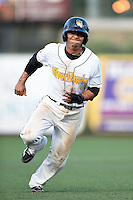 South Bend Silver Hawks third baseman Fidel Pena (3) running the bases during a game against the Dayton Dragons on August 20, 2014 at Four Winds Field in South Bend, Indiana.  Dayton defeated South Bend 5-3.  (Mike Janes/Four Seam Images)