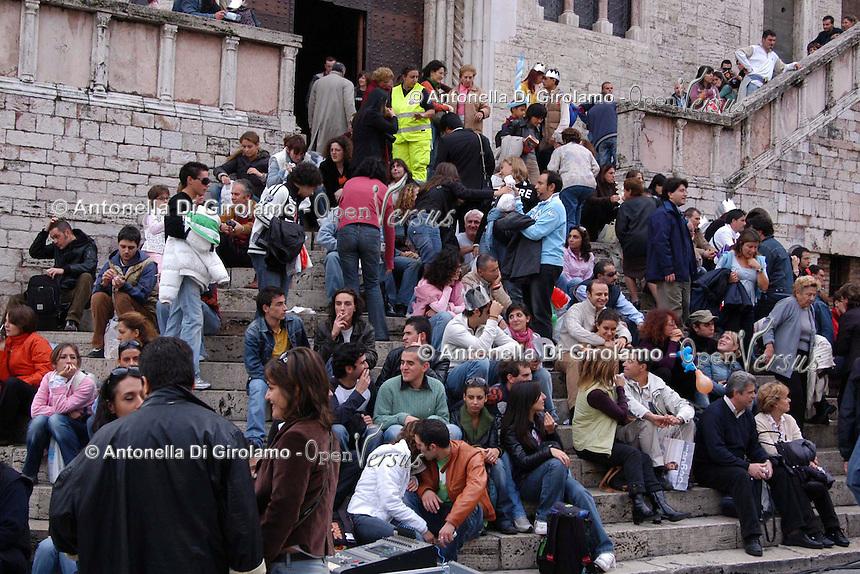 Perugia. Il Palazzo dei Priori in  Piazza IV Novembre.....