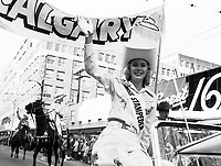 Miss Calgary Stampeder 1960 Grey Cup Parade. Photo Ted Grant