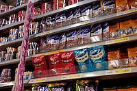 Cadbury chocolates are on sale in a Carrefour supermarket in Beijing, China. Major international chains like Carrefour and Walmart Stores have expanded aggressively in China. Local Chinese retailers have loudly protested this and lobbied heavily for protection from the new competition in price and service that these major retailers have set off..23 Jul 2006