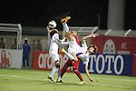 Jordan vs Korea Republic during the 2014 AFC U-22 Championship Group Stage A match on January 15, 2014 at the Sultan Qaboos Sports Complex in Muscat, Oman. Photo by World Sport Group