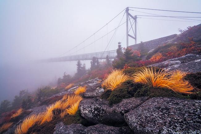 Mile High bridge into infinity, Grandfather Mountain, North Carolina