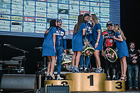 the podium:<br /> <br /> 1st place: Niki Terpstra (NED/Quick-Step Floors)<br /> 2nd place: Philippe Gilbert (BEL/Quick Step floors)<br /> 3th place: Greg Van Avermaet (BEL/BMC)<br /> <br /> 61th E3 Harelbeke 2018 (1.UWT)<br /> Harelbeke > Harelbeke (206km)
