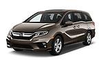 2018 Honda Odyssey EX-L 5 Door Mini Van angular front stock photos of front three quarter view
