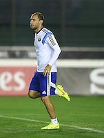 Pablo Zabaleta of Argentina during training