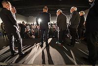 Nach zwei Jahren ohne eigene Ausstellungsraeume eroeffnet die Galerie fuer Photographie C/O Berlin am 30. Oktober 2014 am neuen Standort im Amerika Haus am Bahnhof Zoo in der Hardenbergstraße 22-24 in Berlin-Charlottenburg.<br /> Am Mittwoch den 29. Oktober 2014 gab es ein Opening fuer die Presse.<br /> Im Bild 2.vr: Thomas Hoepker, deutscher Fotograf und Dokumentarfilmregisseur; 3.vr. mit rotem Schal und Brille: Elliott Erwitt, US-amerikanischer Fotograf und zeitweise Praesident sowie Vizepraesident der Fotoagentur Magnum Photos.<br /> 29.10.2014, Berlin<br /> Copyright: Christian-Ditsch.de<br /> [Inhaltsveraendernde Manipulation des Fotos nur nach ausdruecklicher Genehmigung des Fotografen. Vereinbarungen ueber Abtretung von Persoenlichkeitsrechten/Model Release der abgebildeten Person/Personen liegen nicht vor. NO MODEL RELEASE! Don't publish without copyright Christian-Ditsch.de, Veroeffentlichung nur mit Fotografennennung, sowie gegen Honorar, MwSt. und Beleg. Konto: I N G - D i B a, IBAN DE58500105175400192269, BIC INGDDEFFXXX, Kontakt: post@christian-ditsch.de<br /> Urhebervermerk wird gemaess Paragraph 13 UHG verlangt.]