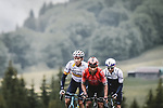 Nairo Quintana (COL) Team Arkea-Samsic, Spanish Champion Omar Fraile (ESP) Astana Premier Tech and Michael Woods (CAN) Israel Start-Up Nation attack on the Col des Saisies during Stage 9 of the 2021 Tour de France, running 150.8km from Cluses to Tignes, France. 4th July 2021.  <br /> Picture: A.S.O./Pauline Ballet   Cyclefile<br /> <br /> All photos usage must carry mandatory copyright credit (© Cyclefile   A.S.O./Pauline Ballet)