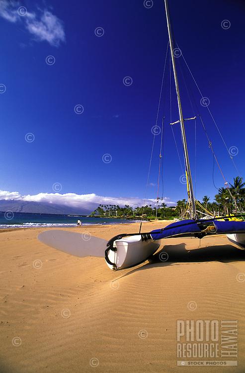 Catamaran on Wailea Beach, Maui.