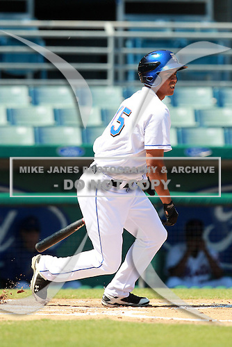 New York Mets minor league outfielder Pedro Zapata (45) during a game vs. the Minnesota Twins in an Instructional League game at City of Palms Park in Fort Myers, Florida;  October 4, 2010.  Photo By Mike Janes/Four Seam Images