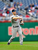 30 September 2009: New York Mets' third baseman David Wright in action against the Washington Nationals at Nationals Park in Washington, DC. The Nationals rallied in the bottom of the 9th inning on a Justin Maxwell walk-off Grand Slam to win 7-4 and sweep the Mets' 3-game series, capping the Nationals' 2009 home season. Mandatory Credit: Ed Wolfstein Photo