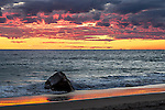 Sunset on Moshup Beach, Aquinnah, Marthas Vineyard, Massachusetts, USA