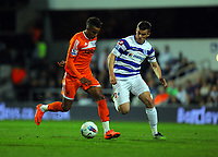 FAO SPORTS PICTURE DESK<br /> Pictured L-R: Scott Sinclair of Swansea marked by Joey Barton of QPR. Wednesday, 11 April 2012<br /> Re: Premier League football, Queens Park Rangers v Swansea City FC Loftus Road Stadium, London.