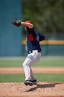 GCL Red Sox pitcher Brock Bell (49) during a Gulf Coast League game against the GCL Pirates on August 1, 2019 at Pirate City in Bradenton, Florida.  GCL Red Sox defeated the GCL Pirates 11-3.  (Mike Janes/Four Seam Images)