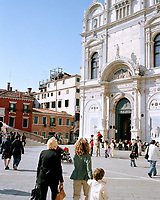 The burial place of 25 Venetian doges and one of the largest churches in Italy, the Italian Gothic–style Basilica dei Santi Giovanni e Paolo is among the most important churches in the city. Known as San Zanipolo to locals, it is home to works by Bellini, Veronese, and two generations of Lombardo sculptors.