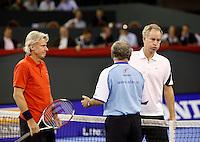 5-10-07, Netherlands, Eindhoven, Tennis, Alex Classics, Borg en    McEnroe tijdens de tos