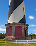Cape Hatteras National Seashore, North Carolina<br /> Base of the Cape Hatteras Lighthouse (1870)