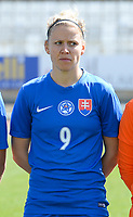 20180307 - LARNACA , CYPRUS :  SlovakianJana Vojtekova  pictured during a women's soccer game between  Slovakia and the Czech Republic , on Wednesday 7 March 2018 at the GSZ Stadium in Larnaca , Cyprus . This is the final game in a decision for 9 th or 10 th place of the Cyprus Womens Cup , a prestigious women soccer tournament as a preparation on the World Cup 2019 qualification duels. PHOTO SPORTPIX.BE   DAVID CATRY
