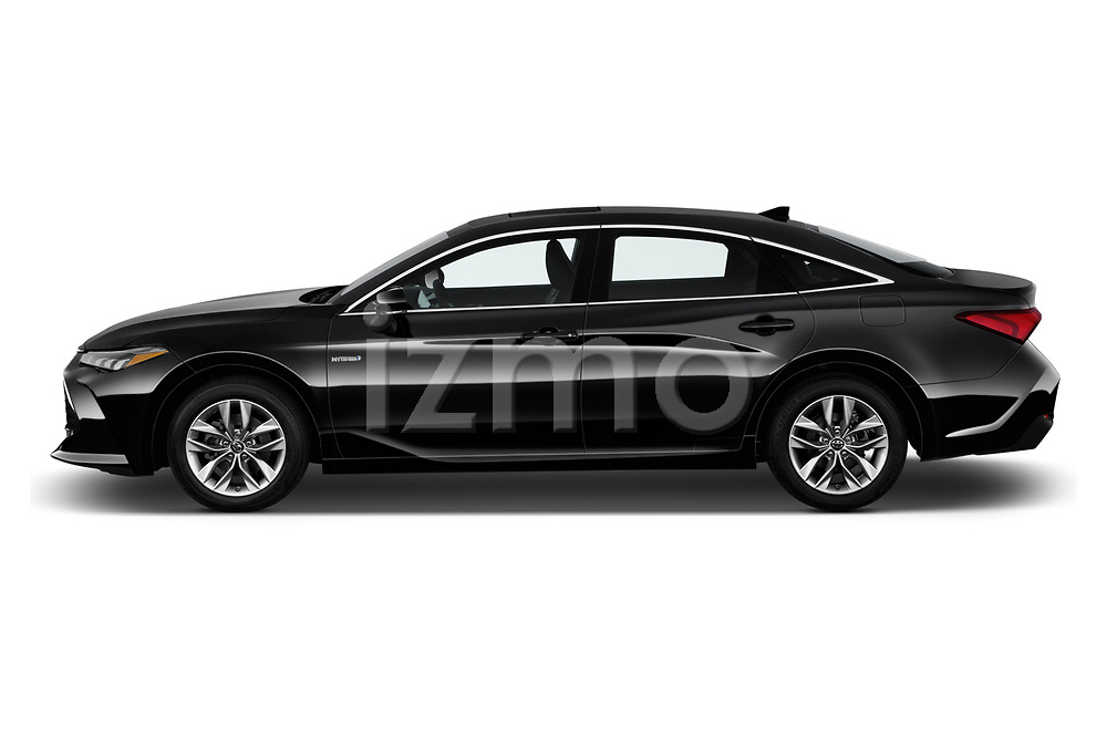 Car driver side profile view of a 2019 Toyota Avalon XLE Hybrid 4 Door Sedan