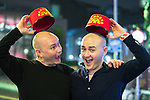 """© Joel Goodman - 07973 332324 . 16/12/2016 . Manchester , UK . Two music fans returning from a Madness gig . Revellers out in Manchester City Centre overnight during """" Mad Friday """" , named for being one of the busiest nights of the year for the emergency services in the UK . Photo credit : Joel Goodman"""