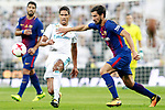 Real Madrid's Raphael Varane (l) and FC Barcelona's Andre Gomes during Supercup of Spain 2nd match. August 16,2017. (ALTERPHOTOS/Acero)