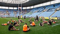 Photo: Richard Lane/Richard Lane Photography. Wasps v London Irish. Aviva Premiership. 07/05/2016. Wasps players.
