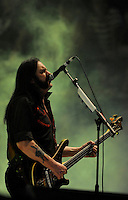 With Full Force XVI 2009 in Roitzschjora bei Leipzig - Metal Heads aus ganz Europa kommen zur Metaller Tagung - im Bild: Motörhead - Frontman Lemmy Kilmister in seiner unnachahmlichen Weise. Portrait . Foto: Norman Rembarz..