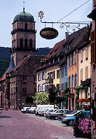 France, Alsace, Kaysersberg, Haut-Rhin, Europe, wine region, Picturesque village of Kaysersberg in the wine region of Alsace.