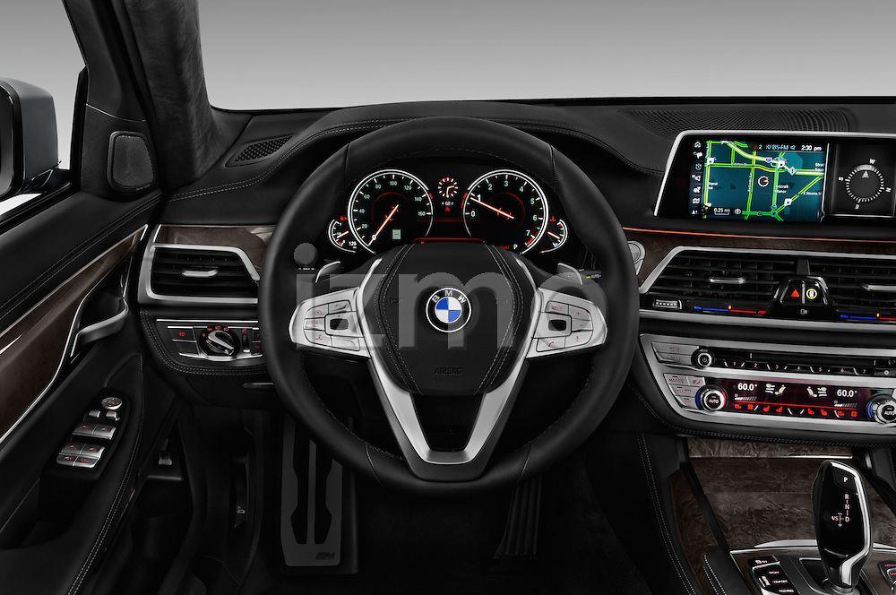 Car pictures of steering wheel view of a 2017 BMW 7 Series 750i M Sport 4 Door Sedan Steering Wheel