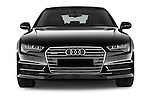 Car photography straight front view of a 2015 Audi A7 S Line 5 Door Hatchback Front View