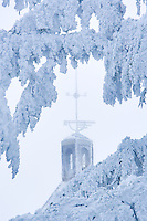 Frozen wind vane attop Timberline Lodge, Oregon