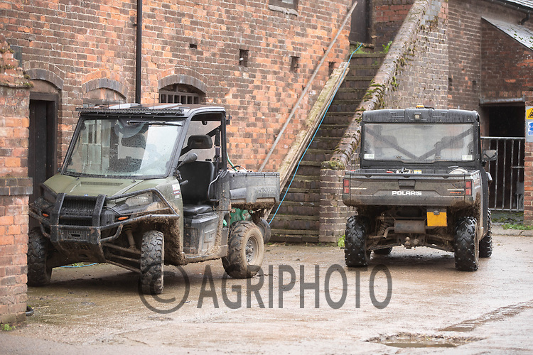 1-10-2021 Polaris ATV in a farmyard<br /> ©Tim Scrivener Photographer 07850 303986<br />      ....Covering Agriculture In The UK....