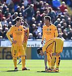 FC Barcelona's Lionel Messi, Neymar and Luis Suarez  during La Liga match. February 7, 2016. (ALTERPHOTOS/Javier Comos)