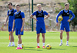 St Johnstone Training....   McDiarmid Park   10.08.21<br />Ali McCann pictured with Callum Booth, Reece Devine and Hayden Muller during training this morning ahead of Thursday's Europa League Qualfier against Galatasaray.<br />Picture by Graeme Hart.<br />Copyright Perthshire Picture Agency<br />Tel: 01738 623350  Mobile: 07990 594431