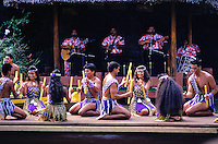 Polynesian cultural practices including dance at the polynesian cultural center, north shore of oahu.