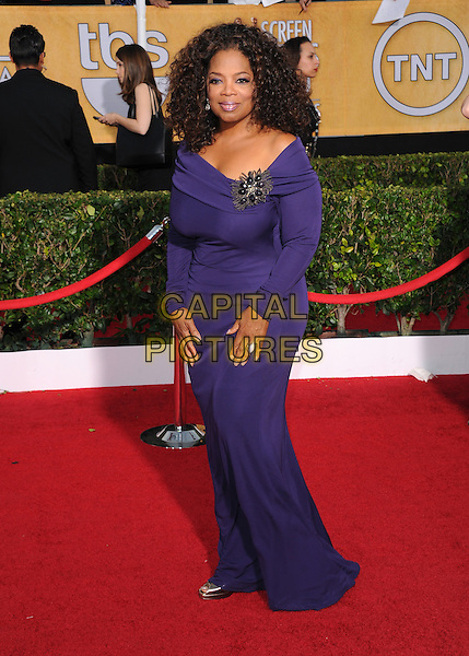 Oprah Winfrey at the 20th Annual Screen Actors Guild Awards held at The Shrine Auditorium in Los Angeles, California on January 18th 2014.                                                                              <br /> CAP/DVS<br /> ©Debbie VanStory/Capital Pictures