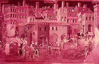 Siena:  Palazzo Pubblico--a painting by Ambrogio Lorenzetti.  Reference only--copyright 1973.