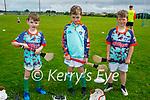Enjoying the Kerry GAA Cúl camp in Ballyduff on Monday. L to r: Jack O'Connor, Fionn O'Carroll, Reece Sheehan