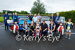 Members and sponsors gather in O'Riadas in Ballymac on Monday evening, at the launch of their fundraising Ballmac Vintage Car and Honda 50 Run in aid of Help Rose Bloom. which will be held on Sunday August 8th. <br /> Kneeling l to r: Mary Jones, Karen, Kate, Rose and Thomas O'Flaherty and Joan Glover. Back l to r: Tadgh O'Leary, Cian O'Connor, Brian, Tom and George Glover, Paul Horan, Danny McGlynn, Gareth Foley, Timmy Connor and Brían Murphy.