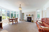 BNPS.co.uk (01202 558833)<br /> Pic: Savills/BNPS<br /> <br /> Pictured: A living room.<br /> <br /> A clifftop home with breathtaking panoramic sea views is on the market for £3.25m.<br /> <br /> Sandpierre also has a private swimming pool and a viewing platform overlooking the beach with 180-degree views of the water. <br /> <br /> The six-bedroom family home is on the Bournemouth/Poole coastline in Dorset and is being sold for the first time in 25 years.<br /> <br /> The house was built in the 1930s and is in a quiet cul-de-sac in Branksome Dene Chine - midway between the town centres of Bournemouth and Poole.