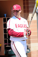 Chris Shaw (24) of the Boston College Eagles prior to a game versus the Notre Dame Fighting Irish at Shea Field in Chestnut Hill, Massachusetts on May 14, 2015.  (Ken Babbitt/Four Seam Images)