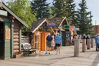 Turn of the century log cabins in Historic Pioneer Park, Fairbanks, interior, Alaska.