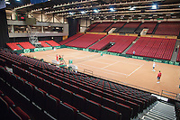 11-sept.-2013,Netherlands, Groningen,  Martini Plaza, Tennis, DavisCup Netherlands-Austria, Training,  Overall view <br /> Photo: Henk Koster
