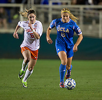 Morgan Brian, Rosie White. UCLA advanced on penalty kicks after defeating Virginia, 1-1, in regulation time at the NCAA Women's College Cup semifinals at WakeMed Soccer Park in Cary, NC.