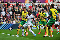 Swansea v Norwich, Liberty Stadium, Saturday 29th march 2014...<br /> <br /> <br /> <br /> Swansea's Wayne Routledge