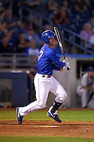 Tulsa Drillers third baseman Jarek Cunningham (37) at bat during a game against the Midland RockHounds on June 2, 2015 at Oneok Field in Tulsa, Oklahoma.  Midland defeated Tulsa 6-5.  (Mike Janes/Four Seam Images)