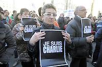 - Milano, 10/01/2015 - manifestazione di solidarietà per il settimanale satirico francese Charlie Hebdo vittima di un attentato terroristico<br /> <br /> - Milan, 10/01/2015 - demonstration of solidarity for the French satirical weekly Charlie Hebdo victim of a terrorist attack