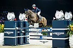 Clarissa Lyra of Hong Kong riding Catokia competes in the Longines Speed Challenge during the Longines Masters of Hong Kong at AsiaWorld-Expo on 10 February 2018, in Hong Kong, Hong Kong. Photo by Ian Walton / Power Sport Images