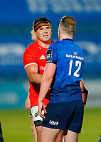 23th April 2021; RDS Arena, Dublin, Leinster, Ireland; Rainbow Cup Rugby, Leinster versus Munster; CJ Stander of Munster shakes hands with Rory O'Loughlin of Leinster after the game