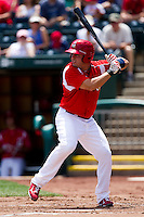 Zack Cox (7) of the Springfield Cardinals at bat during a game against the San Antonio Missions on May 30, 2011 at Hammons Field in Springfield, Missouri.  Photo By David Welker/Four Seam Images