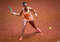 Den Bosch, The Netherlands, April 16, 2021,    Maaspoort, Billy Jean King Cup  Netherlands -  China , seccond day first match: Lesley Pattinama-Kerkhove (NED) <br /> Photo: Tennisimages/Henk Koster